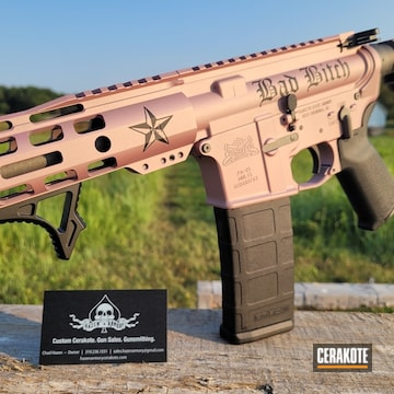 Ar Build Cerakoted Using Graphite Black, Tungsten And Pink Champagne