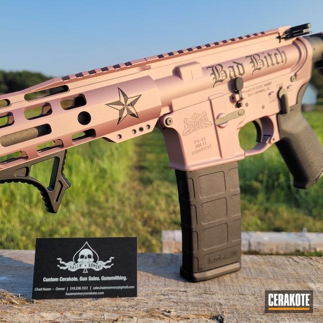 Cerakoted: S.H.O.T,AR Pistol,PINK CHAMPAGNE H-311,Graphite Black H-146,Tungsten H-237,.223,5.56