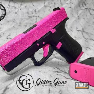 Glitter Gun Glock 43x Cerakoted Using Prison Pink