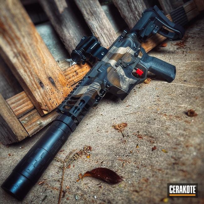 Cerakoted: S.H.O.T,9mm,AR Pistol,Precision Tactical,Desert Sand H-199,Armor Black H-190,O.D. Green H-236,A.I. Dark Earth H-250