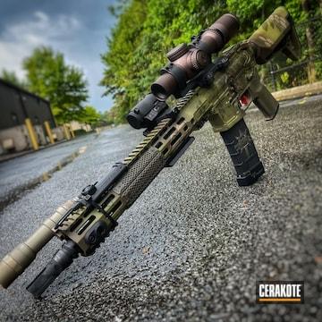 Kryptek Camo Ar Build Cerakoted Using Noveske Bazooka Green, Patriot Brown And O.d. Green