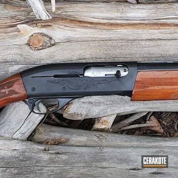 Remington 1100 Shotgun Cerakoted Using Gloss Black