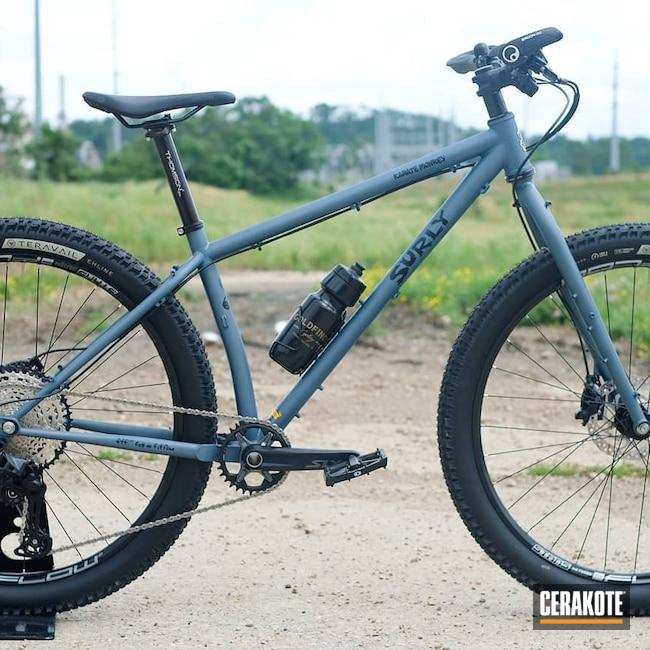 Cerakoted: Bike Frame,Bicycle Frame,Blue Titanium C-189,Bicycle,Bike