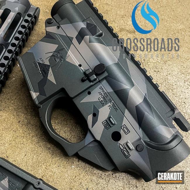 Cerakoted: S.H.O.T,Sniper Grey H-234,NRA Blue H-171,Graphite Black H-146,Titanium H-170,Splinter Camo,AR-15