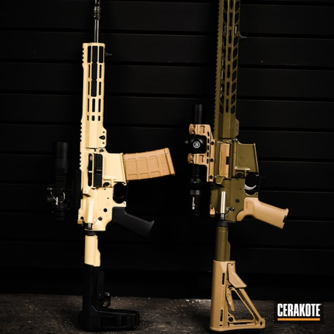 Ar's Cerakoted Using Moss And Magpul® Fde