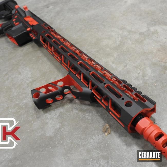 Cerakoted: S.H.O.T,Color Fill,Graphite Black H-146,AR,Smith & Wesson,USMC Red H-167,.223,AR-15