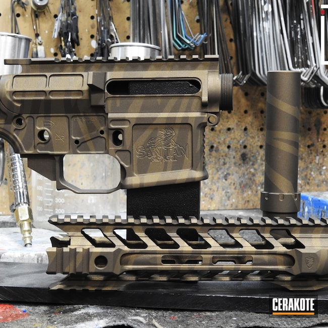 Cerakoted: S.H.O.T,Tiger Stripes,AR,Burnt Bronze H-148,Midnight Bronze H-294,AR Build