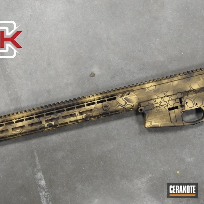 Cerakoted: S.H.O.T,Build,Kryptek,AR,Burnt Bronze H-148,Midnight Bronze H-294,Bright Nickel H-157,Gold H-122
