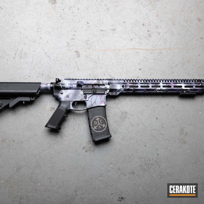 Cerakoted: S.H.O.T,Wild Purple H-197,Armor Black H-190,.223,80%,Medford,Kryptek,Oregon,black flag armory,BATTLESHIP GREY H-213,Southern Oregon,CRUSHED ORCHID H-314,AR-15