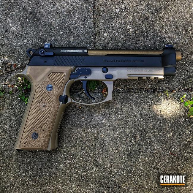 Cerakoted: S.H.O.T,9mm,MAGPUL® FLAT DARK EARTH H-267,m9a3,Graphite Black H-146,Pistol,Beretta