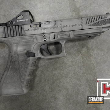 Distressed Glock 34 Cerakoted Using Steel Grey And Graphite Black