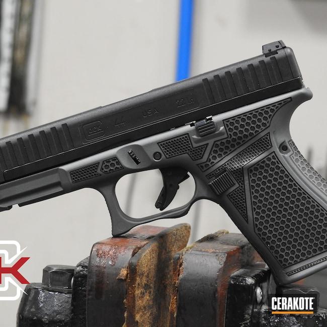 Cerakoted: S.H.O.T,Laser Stippled,Glock 44,Sniper Grey H-234,Glock