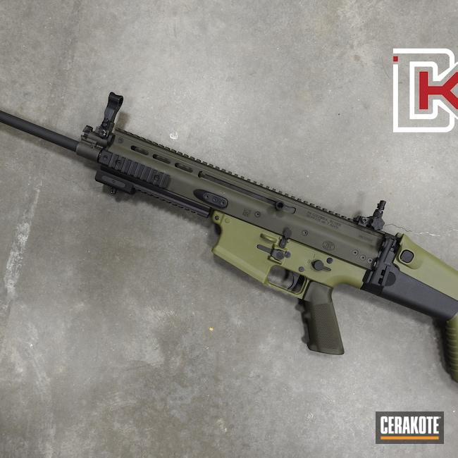 Cerakoted: S.H.O.T,SCAR,SCAR 17,Noveske Bazooka Green H-189,MAGPUL® O.D. GREEN H-232