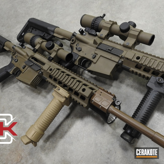 Cerakoted: S.H.O.T,20150 Coyote C-190,MAGPUL® FLAT DARK EARTH H-267,AR,Sig Sauer 516,Sig Sauer