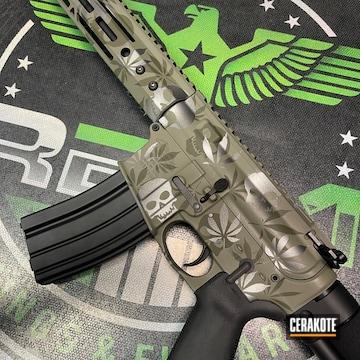 Ar Build Cerakoted Using Sniper Green, Hazel Green And Tungsten