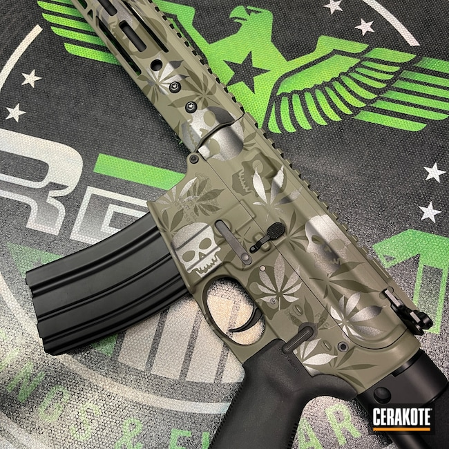 Cerakoted: S.H.O.T,Rifle,HAZEL GREEN H-204,Anderson Mfg.,Sniper Green H-229,Tungsten H-237,Camo,AM15