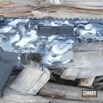 Custom Camo Ar Build Cerakoted Using Magpul® Stealth Grey, Multicam® Dark Grey And Armor Black