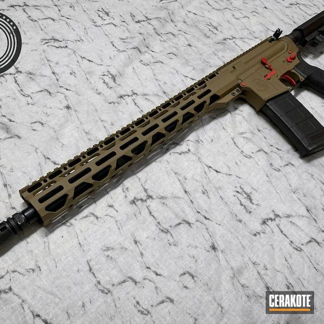 Cerakoted: S.H.O.T,Radical Firearms,Custom,Tan,HABANERO RED H-318,5.56,GLOCK® FDE H-261,Red,AR-15