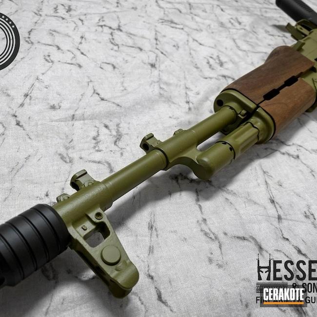 Cerakoted: S.H.O.T,Custom AK,Armor Black H-190,AK-47,7.62x39,Noveske Bazooka Green H-189,Jungle Green,AK