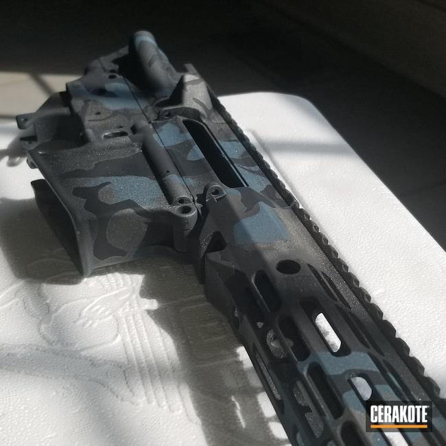 Cerakoted: S.H.O.T,Stainless C-129,Blue Titanium C-189,Graphite Black,Graphite Black C-102,C-Series,Navy camo,Stainless,5.56,AR Build