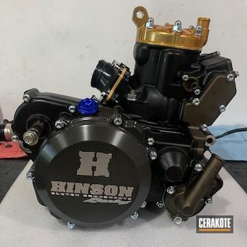 Yamaha Dirt Bike Engine Cerakoted Using Armor Black And Midnight Bronze