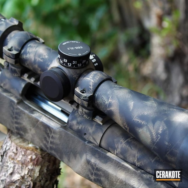 Cerakoted: S.H.O.T,6.5 Creedmoor,Coyote Tan H-235,Rifles,Armor Black C-192,Coyote Tan C-240,Armor Black H-190,Forest Green H-248,Forest Green C-248