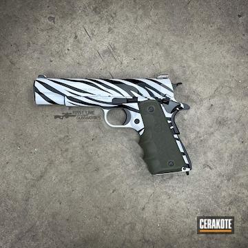 White Tiger Themed Colt Pistol Cerakoted Using Stormtrooper White And Graphite Black