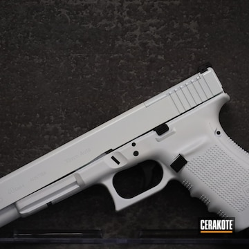 Glock 40 Cerakoted Using Stormtrooper White And Graphite Black