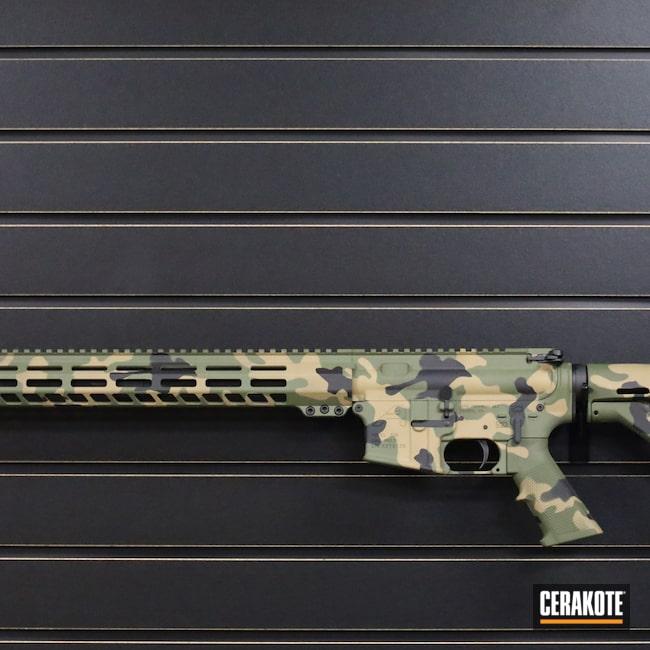 Cerakoted: S.H.O.T,Rifle,X-15,Aero Precision,Mud Brown H-225,Sniper Green H-229,Graphite Black H-146,AR,.223,.223 Wylde,5.56,AR-15