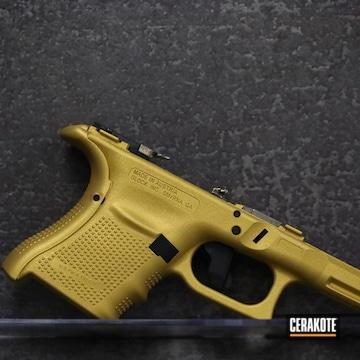 Glock 30 Frame Cerakoted Using Gold