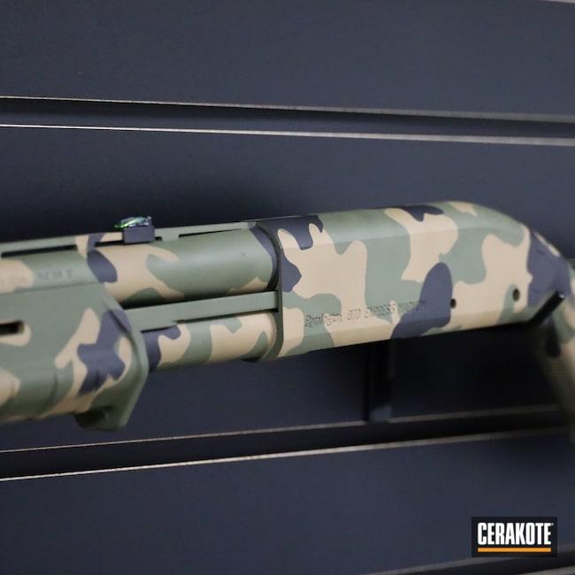 Cerakoted: S.H.O.T,Shotgun,Mud Brown H-225,Sniper Green H-229,Graphite Black H-146,870 Express,12 Gauge,Remington