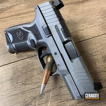 Fn 509 Pistol Cerakoted Using Titanium And Armor Black