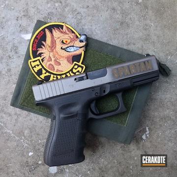 Glock 19 Cerakoted Using Stainless, Graphite Black And Burnt Bronze