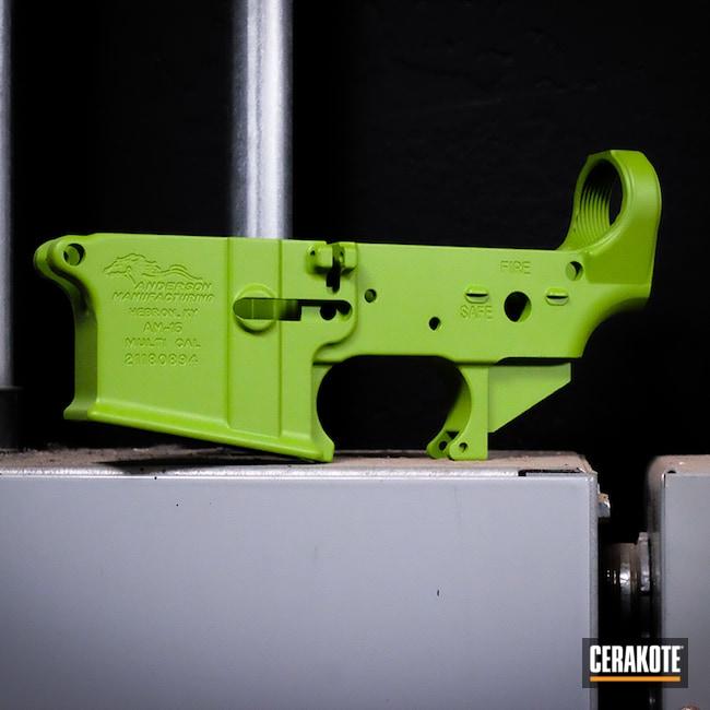 Cerakoted: S.H.O.T,Zombie Green H-168,Battle Rifle,AR Parts,AR Build,AR15 Lower,Zombie,Custom Rifle,AR,AR Project,Green,Custom Rifle Build,AR Rifle,Custom AR,AR-15