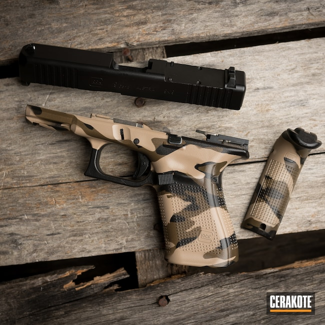 Cerakoted: S.H.O.T,TROY® COYOTE TAN H-268,Patriot Brown H-226,Armor Black H-190,Glock