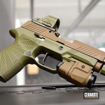 Pistol Cerakoted Using Noveske Bazooka Green And Graphite Black