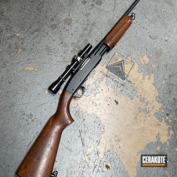 Remington Model 760 Rifle Cerakoted Using Midnight