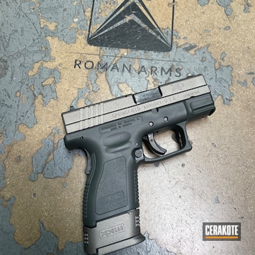 Springfield Xd-9 Pistol Cerakoted Using Savage® Stainless And Sig™ Dark Grey