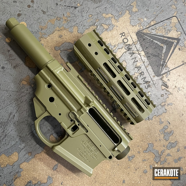Cerakoted: S.H.O.T,Ghetto Blaster,Modern Sporting Rifle,Tactical Rifle,Noveske,Noveske Bazooka Green H-189,Receiver Set,AR-15