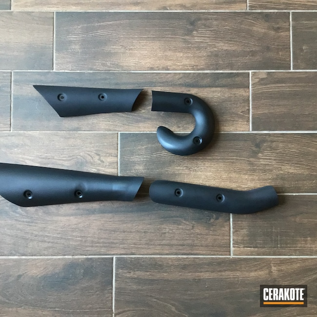 Cerakoted: Graphite Black H-146,Motorcycle Parts,Motorcycle Exhaust,Automotive,Motorcycle