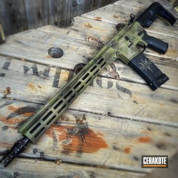 Kryptek Camo Ar Cerakoted Using Noveske Bazooka Green, Patriot Brown And O.d. Green