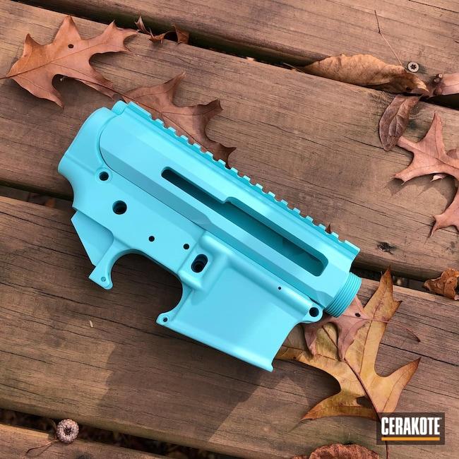 Cerakoted: S.H.O.T,Robin's Egg Blue H-175,Gun Parts,AR Upper,AR Parts,Receiver Set,AR15 Lower