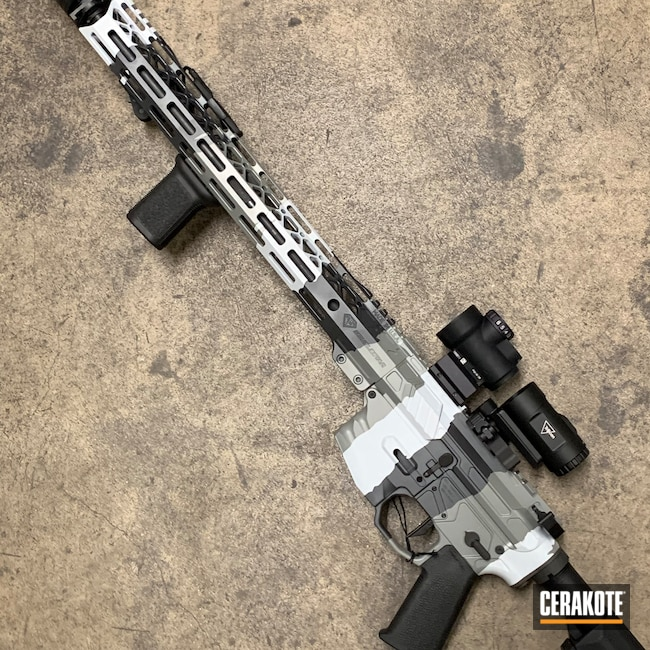 Cerakoted: S.H.O.T,Sniper Grey H-234,3rd Generation Rifle,BATTLESHIP GREY H-213,Bull Shark Grey H-214
