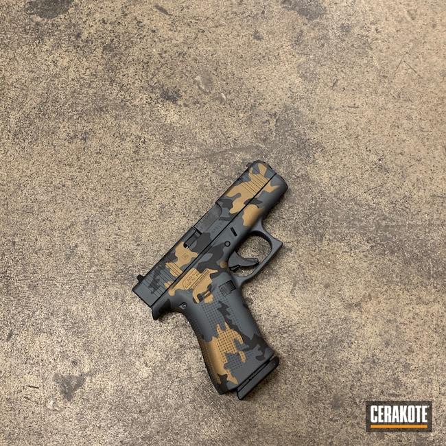 Cerakoted: S.H.O.T,Glock 43X,Sniper Grey H-234,Gen II Graphite Black HIR-146,Burnt Bronze H-148,Glock,Camouflage,43x
