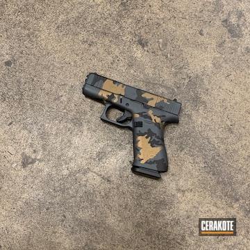 Custom Camo Glock 43x Cerakoted Using Sniper Grey, Burnt Bronze And Gen Ii Graphite Black