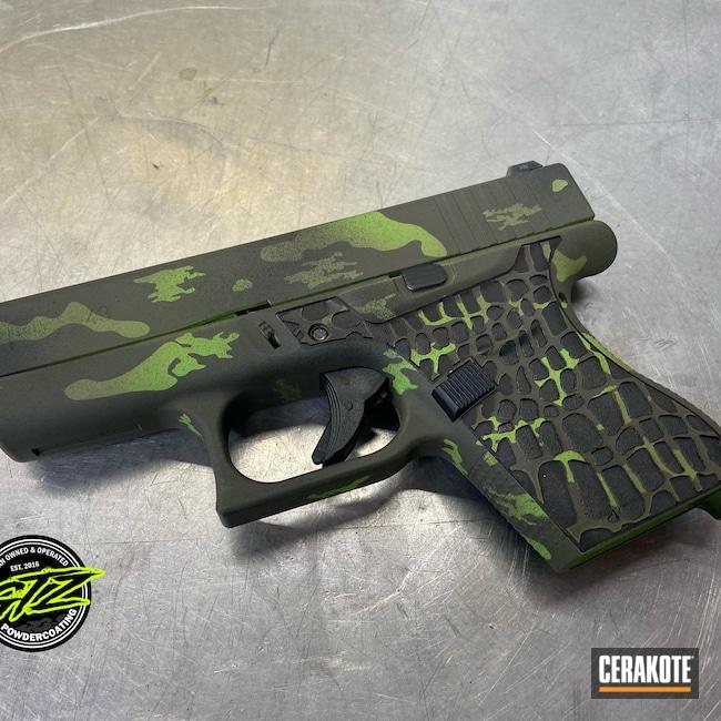 Cerakoted: S.H.O.T,Graphite Black H-146,Zombie Green H-168,Noveske Bazooka Green H-189,Glock 43