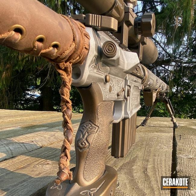 Cerakoted: S.H.O.T,Aero Precision,6.5 Creedmoor,m5,Graphite Black H-146,Burnt Bronze H-148,Satin Aluminum H-151,Custom Rifle Build