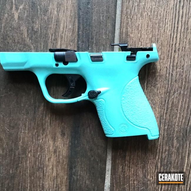 Cerakoted: S.H.O.T,Robin's Egg Blue H-175,Smith & Wesson,Pistol Frame