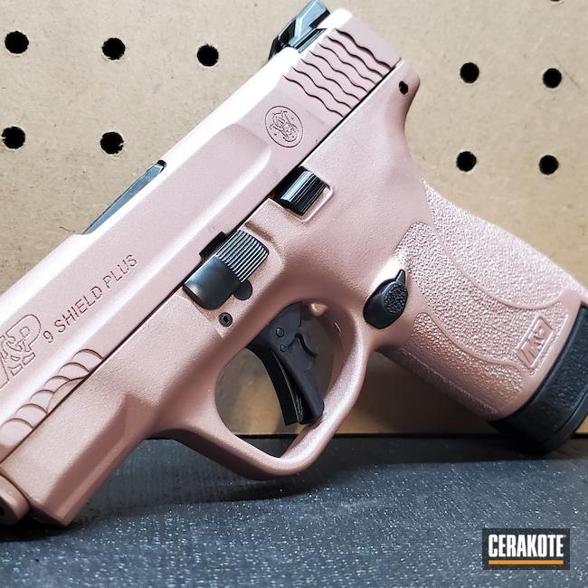 Cerakoted: S.H.O.T,Leopard Print,Robin's Egg Blue H-175,MAGPUL® FLAT DARK EARTH H-267,S&W,Glock 43,MULTICAM® DARK GREY H-345,9mm,Snow White H-136,Graphite Black H-146,Glock,M&P Shield EZ,ROSE GOLD H-327,Guns for Girls,M&P Shield