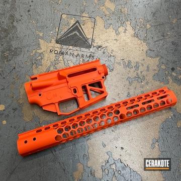Ar Builders Set Cerakoted Using Hunter Orange